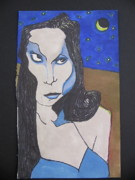 Vampire Drawings - Vampiress by Kevin Corrigan
