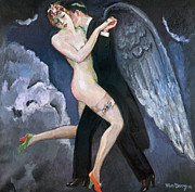 Stocking Framed Prints - VAN DONGEN: TANGO, c1930 Framed Print by Granger