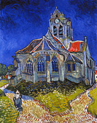 1890 Framed Prints - Van Gogh: Auvers, 1890 Framed Print by Granger