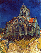 Auvers Sur Oise Prints - Van Gogh: Church, 1890 Print by Granger