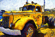 Rigs Prints - Van Gogh Hauls Across America In A Semi-Trailer Truck . 7D15483 Print by Wingsdomain Art and Photography
