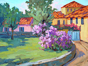 Wineries Paintings - Van Gogh Hospital St. Remy by Diane McClary