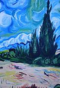 Art Prints For Sale Paintings - Van Gogh III by Mikayla Henderson