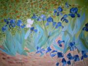 Van Gogh Iris By Alanna Print by Alanna Hug-McAnnally