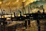Van Gogh Le Quai Huile Sur Toile 1885  Print by Pg Reproductions