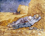 Millet Framed Prints - Van Gogh: Noon Nap, 1889-90 Framed Print by Granger