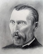 Van Gogh Pencil Portrait Print by Andrea Realpe