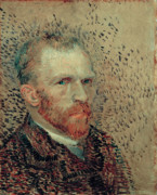 Vincent Van Gogh Posters - Van Gogh Self Portrait Poster by Vincent Van Gogh