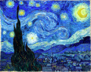 Him Paintings - Van Gogh Starry Night by Vincent Van Gogh