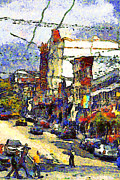 Cityscape Digital Art - Van Gogh Takes The Right Turn And Rediscovers The Castro In San Francisco . 7D7572 by Wingsdomain Art and Photography