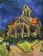 The Starry Night Posters - Van Gogh The Church at Auvers Poster by Pg Reproductions