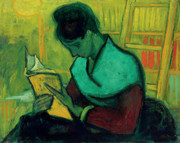 Library Paintings - Van Gogh The Novel Reader by Vincent Van Gogh