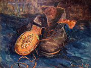 1887 Prints - Van Gogh: The Shoes, 1887 Print by Granger