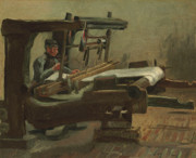 Vincent Van Gogh Prints - Van Gogh Weaver Facing Right Print by Vincent Van Gogh