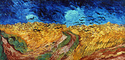 Van Gogh: Wheatfield, 1890 Print by Granger