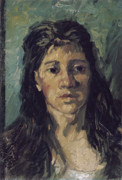 Education Paintings - Van Gogh Woman with Hair Loose by Vincent Van Gogh