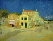 Education Paintings - Van Gogh Yellow House by Vincent Van Gogh