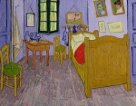 Brush Painting Prints - Van Goghs Bedroom at Arles Print by Vincent Van Gogh
