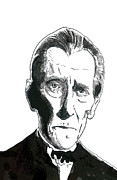 Dracula Paintings - Van Helsing Peter Cushing by Christopher  Chouinard