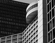 Light And Dark   Framed Prints - Vancouver Architecture Framed Print by Chris Dutton