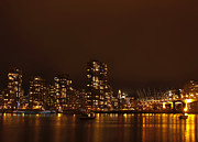 Vancouver Photos - Vancouver at Night by Barbara  White