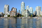 Urbanization Posters - Vancouver BC downtown skyline at False creek Canada. Poster by Gino Rigucci