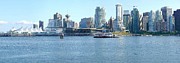 Burrard Inlet Photo Posters - Vancouver BC waterfront skyline panorama. Poster by Gino Rigucci