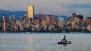 Vancouver Canoe Print by Pierre Leclerc Photography