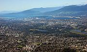 Vancouver Photo Prints - Vancouver city from the air Print by Pierre Leclerc