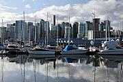 Vancouver Photo Prints - Vancouver city Harbor from Stanley Park Print by Pierre Leclerc