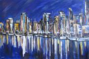 Port Town Mixed Media - Vancouver by Debora Cardaci