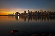 Vancouver Golden Sunrise Print by Jorge Ligason