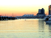 Rowers Art - Vancouver Harbor At Sundown by Will Borden
