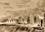 Vancouver Drawings - Vancouver by Jerry Killian