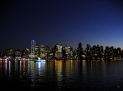 Night-scape Prints - Vancouver Night Lights Print by Will Borden