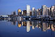 Landscapes Photo Framed Prints - Vancouver Skyline Framed Print by Alasdair Turner