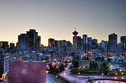 Vancouver Photo Prints - Vancouver Skyline Print by Jason Evans