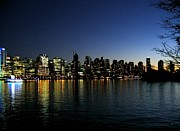 Silhouettes Metal Prints - Vancouver Skyline Metal Print by Will Borden