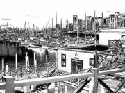 Vancouver Digital Art Prints - Vancouver Waterfront Print by Will Borden