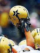Football Helmets Posters - Vanderbilt Commodore Helmet  Poster by Vanderbilt University