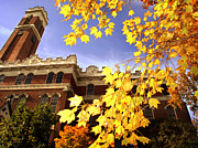Autumn Photos Prints - Vanderbilt Kirkland Hall in the Fall Print by Vanderbilt University