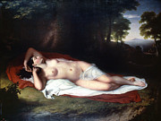 1814 Framed Prints - Vanderlyn: Ariadne Asleep Framed Print by Granger