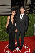 Evening Dress Framed Prints - Vanessa Hudgens, Zac Efron At Arrivals Framed Print by Everett