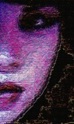 Purple Mixed Media - Vanessa by Navo Art