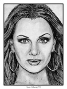 Williams Drawings Prints - Vanessa Williams in 2009 Print by J McCombie