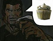 Ryan Jones Prints - Vanilla Cupcake - Nick Fury Print by Ryan Jones