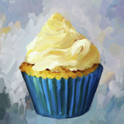 Baking Painting Posters - Vanilla Cupcake Poster by Jai Johnson