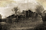 Haunted Shack Prints - Vanishing Barn Print by Ms Judi