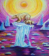 Polar Bears Paintings - Vanishing Future by Nick Gustafson