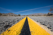 Desert Landscape Prints - Vanishing Point Print by Peter Tellone